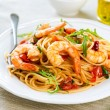 Spaghetti with prawn and tomato — Stock Photo #58801787