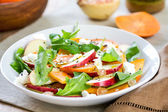Apple with Persimmon and Feta salad — Stock Photo
