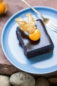 Chocolate fudge cake — Stock Photo