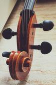 Wooden fingerboard violin — Stockfoto