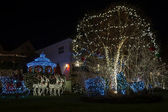 Christmas decorations in Dyker Heights, Brooklyn, NY — Stock Photo