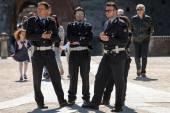 Milano'da İtalyan yerel polisi — Stok fotoğraf