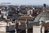 View of Milan from the rooftop of Milan's Cathedral — Stock Photo