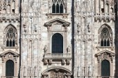 Facade of the Milan Cathedral — Stock Photo