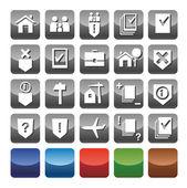 Icons legal services.  Иконки юридические услуги — Stock Vector