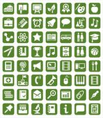 Icons education — Stock Vector
