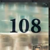 Zahl 108 — Stockfoto