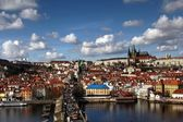 View of the Charles Bridge with the Tower — Stock Photo
