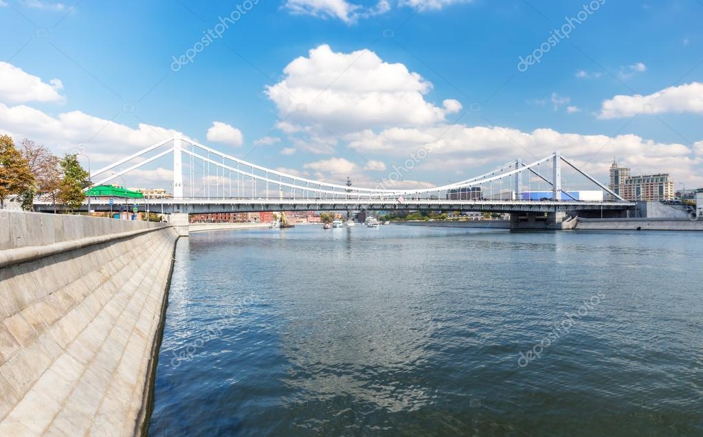 Krymsky Bridge Or Crimean Bridge And Traffic Of Cars (night)-- Is ...