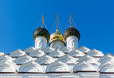 Domes and kokoshniks of the church in Kolomna — Foto de Stock