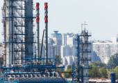 炼油厂 — 图库照片