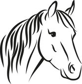 Horse with long mane — Stock Vector