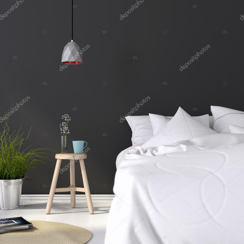Interiör av berg trä lodge sovrum — stockfotografi © janmika #9001409