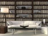 Wydział stylowe i biblioteki — Zdjęcie stockowe