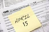 Income tax deadline — Stock Photo