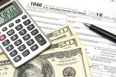Income tax - form 1040 — Stock Photo