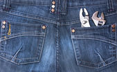 Jeans pocket with tools — Stok fotoğraf