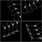 Martini glass collage — Stock fotografie