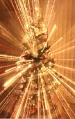 Christmas tree with decorations and lights — Stok fotoğraf
