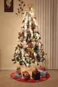 Christmas tree lighting and decorations — Stok fotoğraf