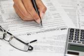 Form 1040 - tax forms and finance — Stock Photo