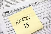 Income tax deadline — Stock Photo
