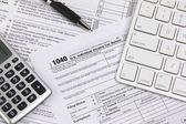 Filing online taxes before deadline — Стоковое фото