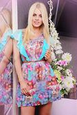 Pretty woman in fancy dress — Stock Photo