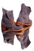 Female stylish boots — Stock Photo