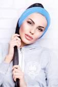 Pretty woman in headband — Photo
