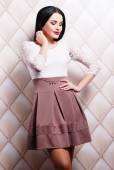 Woman in stylish elegant dress — Stock Photo