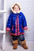 Little girl in winter coat — Stock Photo