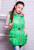 Dziewczynka w płaszcz zimowy — Zdjęcie stockowe
