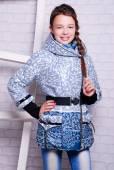 Little girl in winter coat — Stock Photo