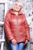 Plus size woman in autumn coat — Stock Photo