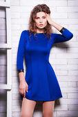 Beautiful woman in stylish dress — Stock Photo