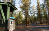 Pay Phone Booth Tone Dial Wooded Campground State Forest — Stock Photo