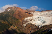 Glacier Melting Heliotrope Ridge Waterfall Alpine Ridge Mt Baker — Stockfoto