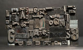 Metal Type Printing Press Typeset Taxes Typography Text Letters — Stock Photo