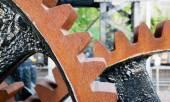 Original Gear Mechanism For Raising Lowering Murray Morgan Drawbridge — Stock Photo