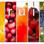 Постер, плакат: Fruit Composite Fresh Raw Food Cranberries Grapes Strawberries Orange