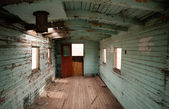 Abandoned Railroad Caboose Interior Western Ghost Town — Stock Photo