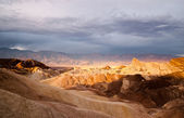 Sunrise Badlands Amargosa Mountain Range Death Valley Zabriske Point — Stock Photo