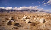 Mesquite Flat Cottonwood Mountains Death Valley Desert Landscape — Stock Photo