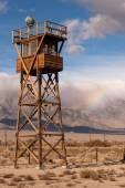 Guard Tower Searchlight Manzanar National Historic Site California — Stock Photo