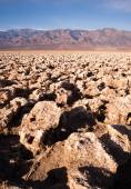 Sea Level Devil's Golf Course Death Valley Panamint Range — Stock Photo