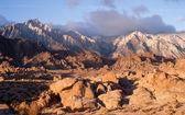 Golden Alpine Sunrise Alabama Hills Sierra Nevada Range California — Stock Photo