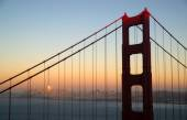 Sunset San Francisco Golden Gate Bridge Pacific Ocean West Coast — Stock Photo