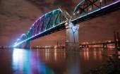 Reclaimed Railroad Tressle Big Four Bridge Ohio River Louisville — Stock Photo