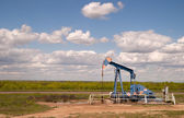 Texas Oil Pump Jack Fracking Crude Extraction Machine — Stock Photo